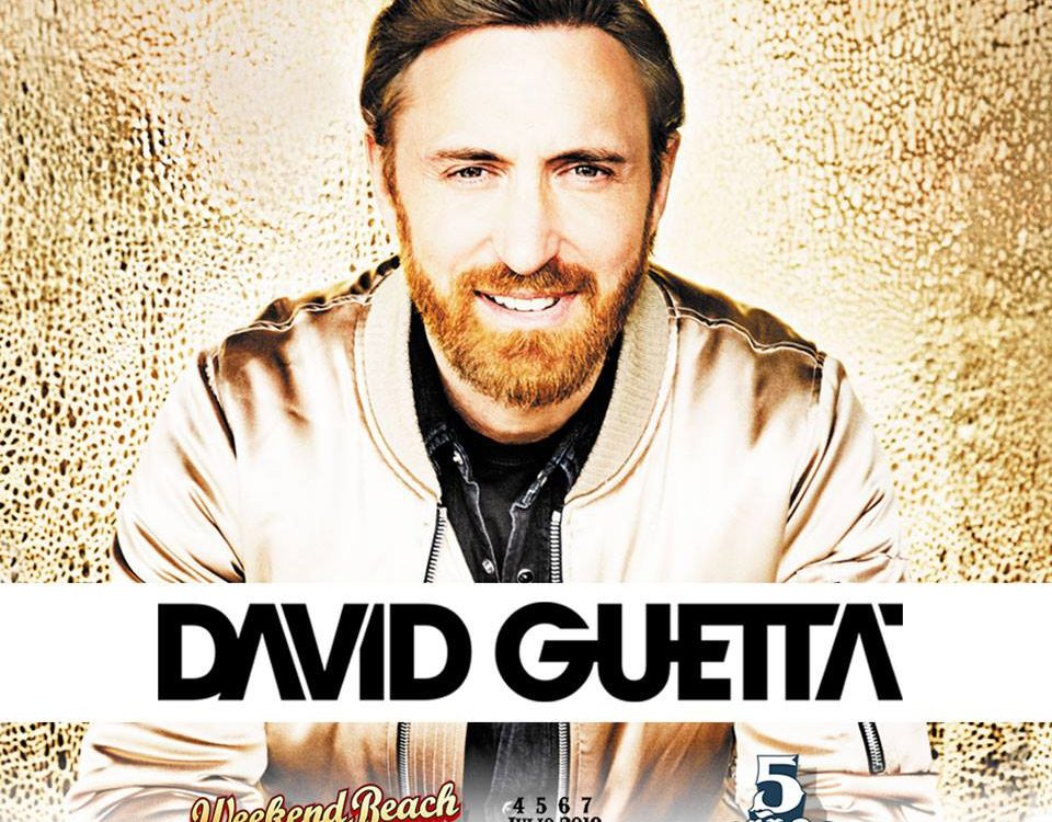 Cartel del Weekend Beach 2018 con David Getta. BIEFEC FX, Efectos Especiales.