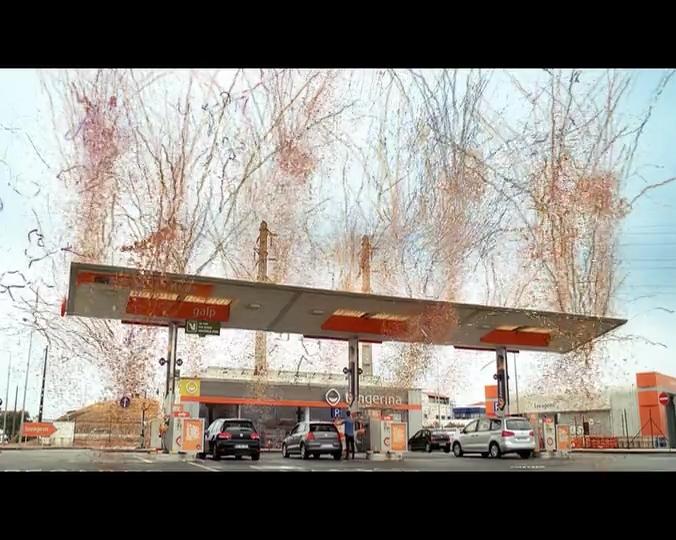Biefec FX, Efectos Especiales, en el rodaje del spot publicitario de Galp Portugal, con efectos de Confeti y Streamers gigantes.