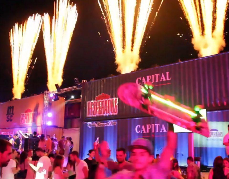 Pirotecnia y Máquinas de fuego lanzallamas de Biefec FX, Efectos Especiales, para eventos y fiestas.