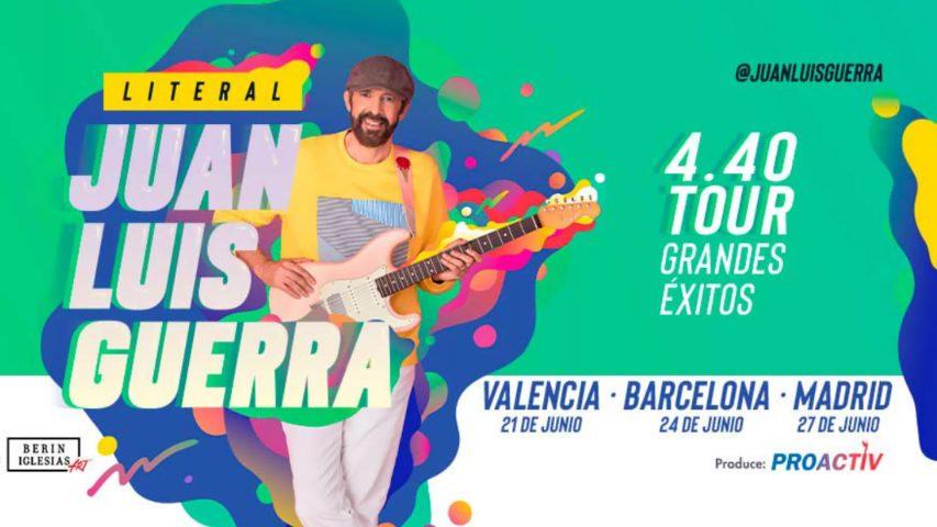 """BIEFEC FX Efectos Especiales en la Gira """"Literal"""" de Juan Luis Guerra por España con miles de confeti y efectos CO2."""